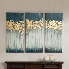 Canvas Art Park Midnight Forest Gel Coat Canvas 3 Pc Wall Art Set