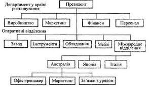 Організаційний розвиток міжнародних корпорацій refsua Рис 5 1 Організаційна структура на ранніх стадіях інтернаціоналізації