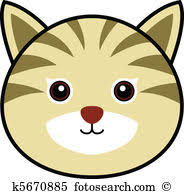 cat face clipart.  Cat To Cat Face Clipart R