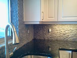 Rock Backsplash Kitchen Custom Kitchen Backsplash Countertop And Flooring Tile Installation