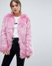 miss selfridge faux fur coat g34c4 for women