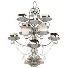crystal chandelier cupcake stand madeleine antique silver 12 piece dessert cupcake stand by amalfi decor