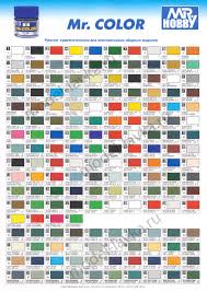 Gaianotes Color Chart Wts 15 4 15 5 Hobby Tool Stock Clearance Sale