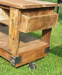 Industrial Steampunk Style Hand Made Factory Cart Kitchen Island