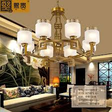 get ations hee expensive modern new chinese copper chandelier lamp living room dining don t villa imitation