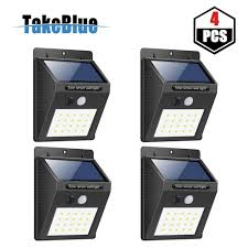 takeblue 20 led solar lights outdoor 3 intelligent modes waterproof solar powered motion sensor
