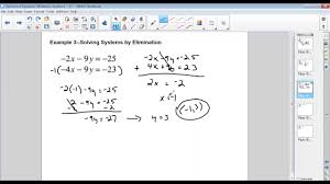 elimination practice problems 1 5