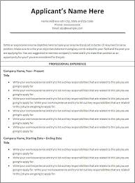 Free Work Resume Template Interesting Work Resume Template Microsoft Word Kubreeuforicco