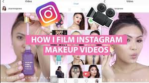 how to film edit insram makeup videos