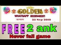 Golden Day Chart Open Weekly Golden Chart 23 9 2019 To 28 9 2019 Tak Golden Matka