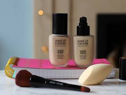 i ve been trying out make up for ever water blend foundation for face and body which i think fans of a very natural finish will really enjoy