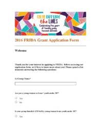Frida Application Form Pdf - Frida The Young Feminist Fund - Frida ...
