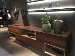 living room shelves above sideboard with high efficiency led lighting