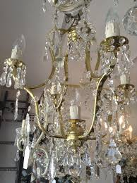 vintage 5 light 4 arm italian vintage crystal chandelier