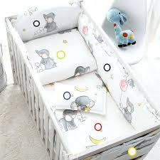 elephant crib bedding set cotton cartoon soft baby bedding sets gray elephant baby crib per include pillow pers baby girl