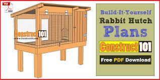 rabbit house plans. Rabbit Hutch Plans House A