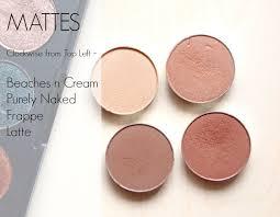 makeup geek matte neutral eye shadow swatches
