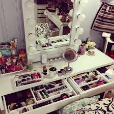 white makeup vanity with lights. dose of lisa pullano: ♡my makeup tour \u0026 storage ideas♡ white vanity with lights