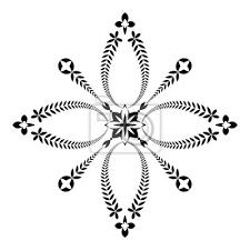 Fototapeta Vavřínový Věnec Ikona Tetování Kříž Znamení černý Ornament