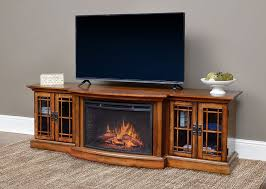graham infrared electric fireplace entertainment center in toasted almond cs 26mm ta