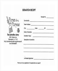salvation army receipt 11 donation receipt form sample free sample example format