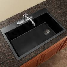 Granite Kitchen Sink Transolid Radius 33 X 22 Granite Single Bowl Drop In Kitchen