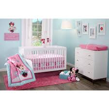 Minnie Mouse Bedroom Furniture Disney Minnie Mouse Happy Day 4 Piece Crib Bedding Set Disney