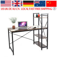 cheap office workstations. ship from us multifuction computer table storage shelving book shelf steel frame notebook desk for home office workstation cheap workstations