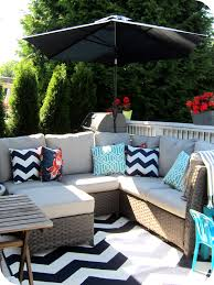 black and white outdoor rug deck