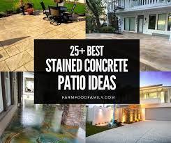 stained concrete patio colors ideas