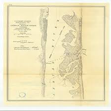 Indian River Inlet Tide Chart Amazon Com Vintography 8 X 12 Inch 1870 Us Old Nautical Map