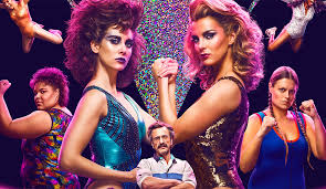 the gorgeous las of glow yes it is entirely possible to bee emotionally invested in a show about women s wrestling because 80s makeup