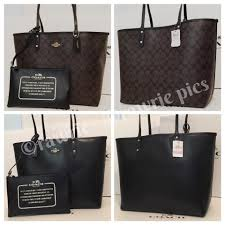 Coach Travel Oversized Large Multifunction Monogram Tote in Black. 12345