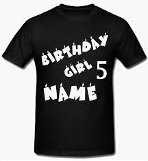 Sprinklecart Ideal Birthday Girl Name <b>Printed</b> T Shirt <b>Custom Printed</b> ...