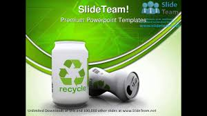 Recycle Aluminium Cans Environment Powerpoint Templates