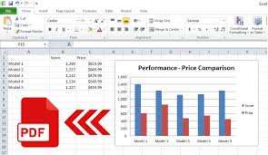 How To Save Microsoft Excel Chart Or Charts To Pdf