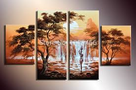Small Picture hand painted 4 piece wall art canvas wall paintings home decor