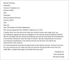service agreement termination letter letter to terminate a contract