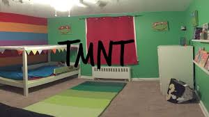 Ninja Turtle Bedroom Teenage Mutant Ninja Turtle Themed Bedroom For Toddler Youtube