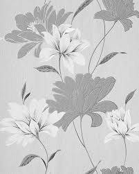 Small Picture EDEM 168 36 vinyl wallpaper floral design flowers grey white