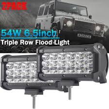 Defender Flood Lights 54w Flood Led Light Bar Car Work Light Bar Driving Lights Led Light Bar Triple Row Work Lights