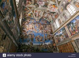 the sistine chapel ceiling painted by michelangelo the last judgment