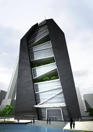Design Concept For Commercial Building Office Tower Cube Concept