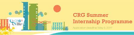summer internship programme crg 5th summer internship program for undergraduate students