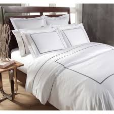 links 3 piece embroidered 300 thread count egyptian cotton sateen duvet set