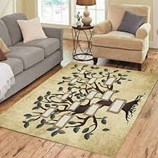 Amazon Com Pinbeam Area Rug Chart Of Family Tree On Aged