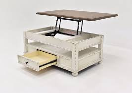 realyn lift top coffee table white