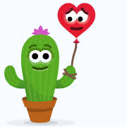 """<b>Cactus Love</b>"" Emoticon"