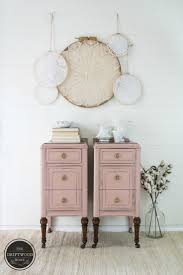 Pink Painted Nightstands. Country Chic Painted Nightstands. Painted  Furniture Makeover The Driftwood Home.