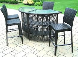 high bar table set high bar table outdoor outdoor bar sets living all weather wicker half